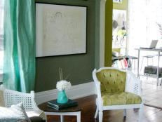 Shades of Green Living Room
