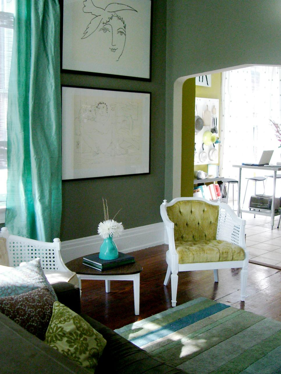 Living Room Green Paint top living room colors and paint ideas | hgtv