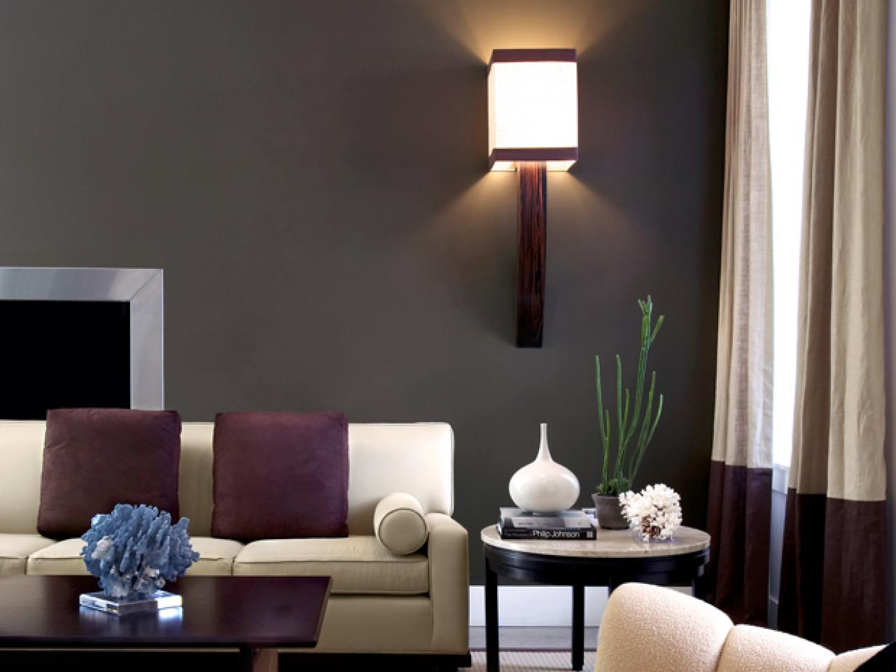 Top living room colors and paint ideas living room and Brown wall color living room