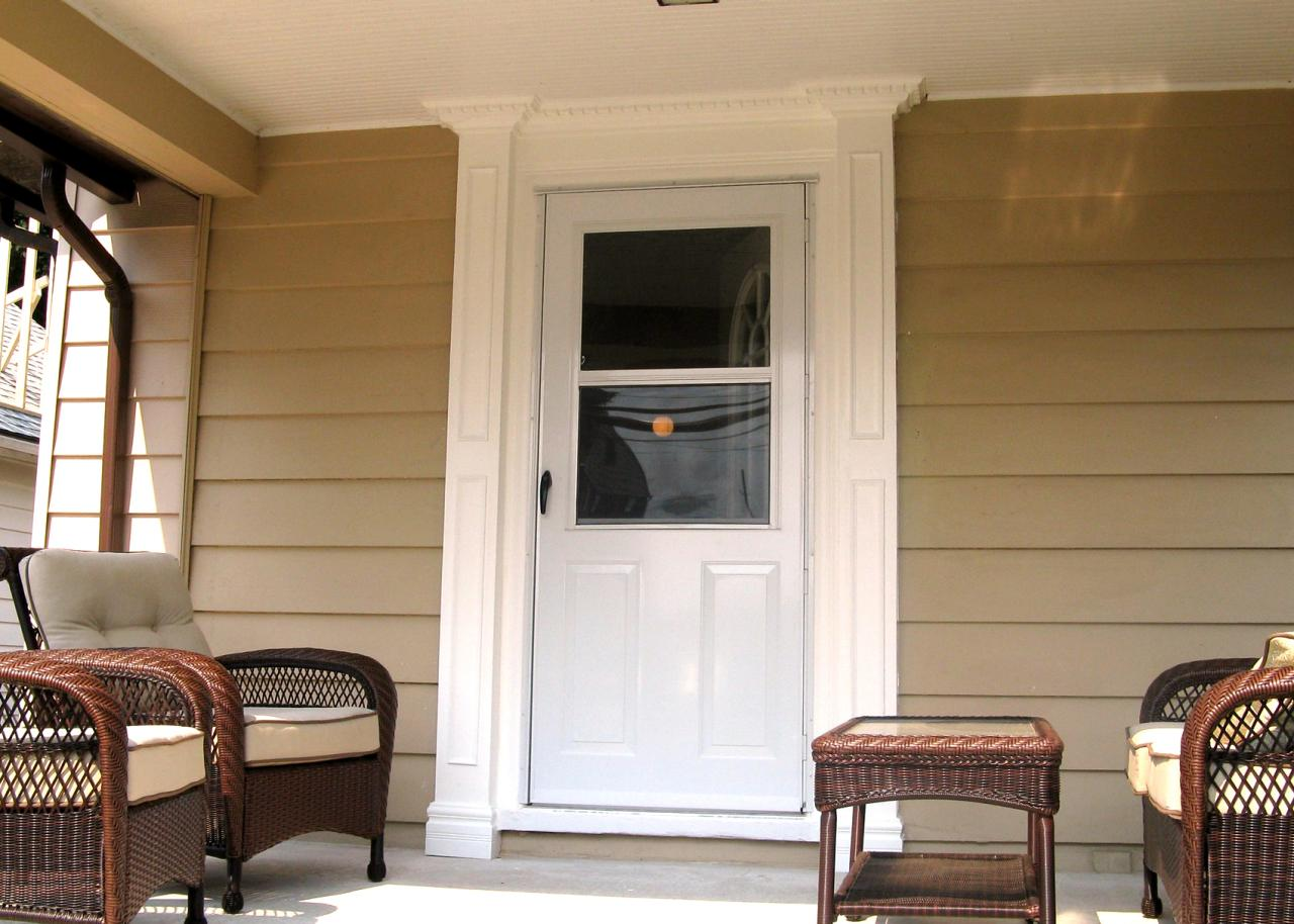 Weekend projects frame an outside entry with porch for Cheap front door and frame