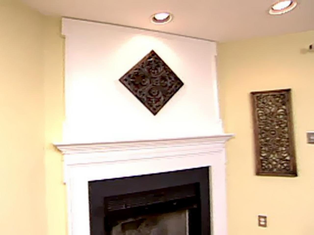 Weekend Projects Extending The Space Above The Fireplace Mantel Hgtv