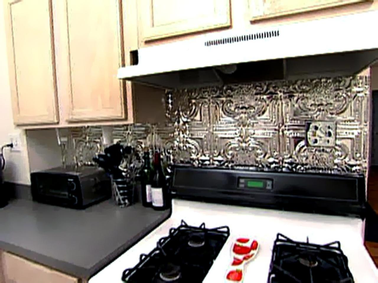 Weekend Projects: How to Install a Tin Tile Backsplash - Weekend Projects: How To Install A Tin Tile Backsplash HGTV