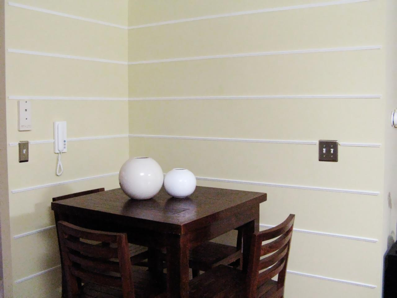 Weekend Projects Add Dimension To A Wall With Molding