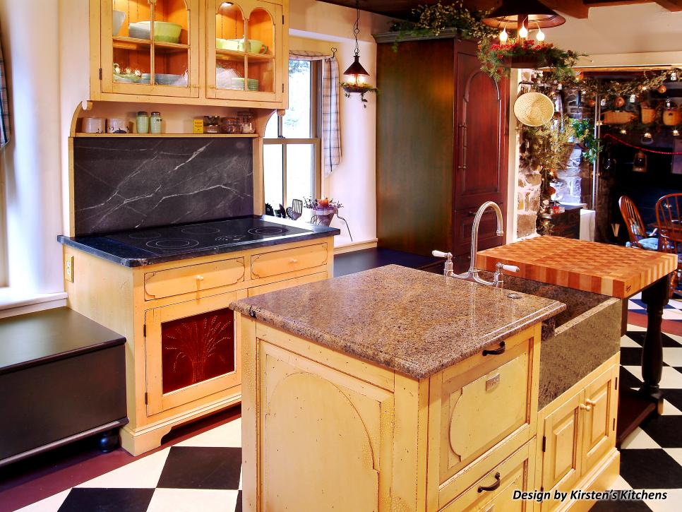 Mixing kitchen cabinet styles and finishes hgtv Kitchen design mixed cabinets