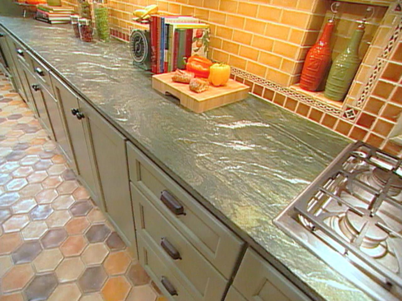 Granite kitchen countertops pictures ideas from hgtv for Jerusalem stone countertops