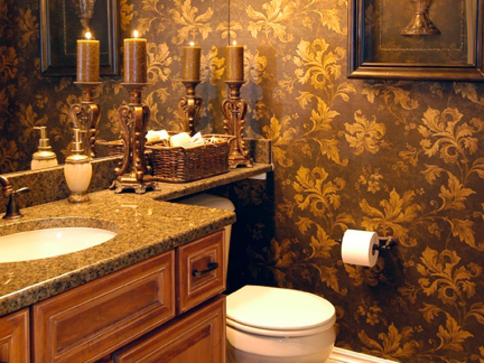 Make A Statement In Your Powder Room