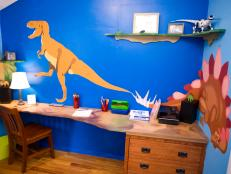 Boy's Room With Dinosaur Theme