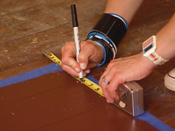 Measure Boundaries For Faux Painted Rug Borders