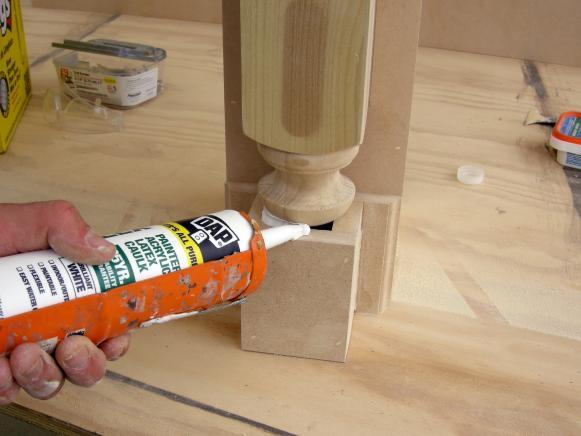 Seal Gaps with Painter's Caulk