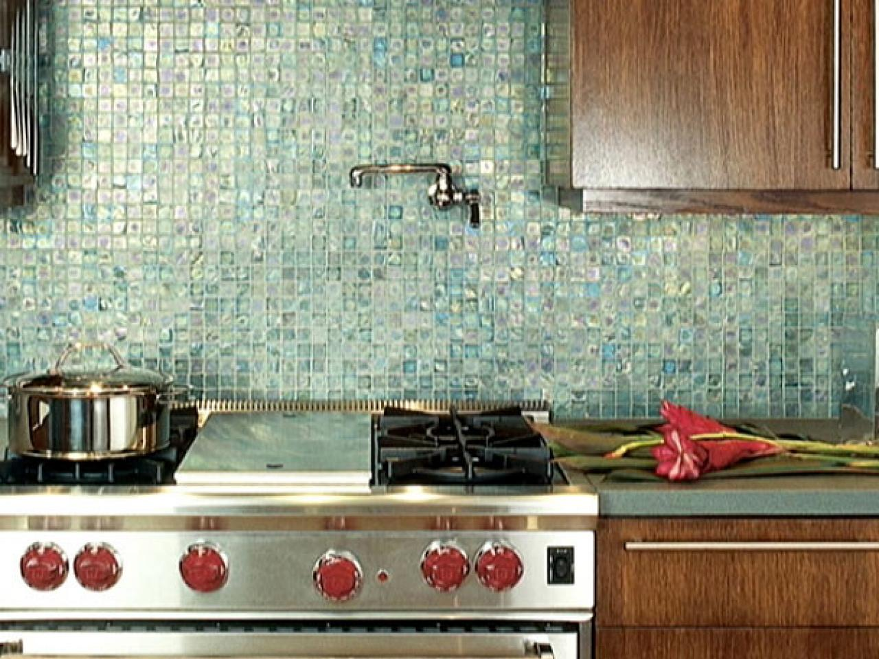 How to design an eco friendly kitchen hgtv Design kitchen backsplash glass tiles