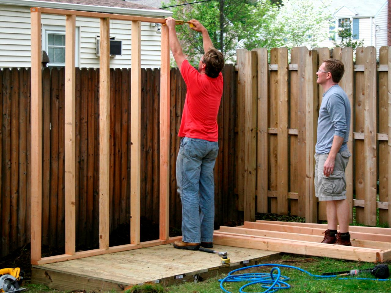 How to build a storage shed for garden tools hgtv Tools to build a house