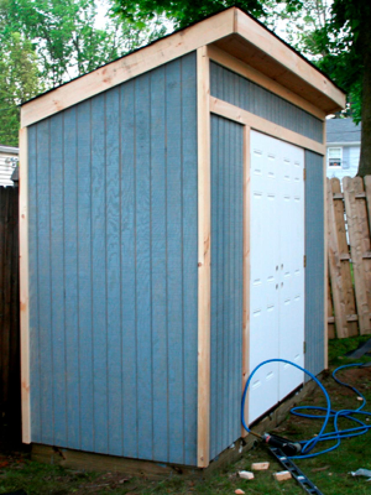 How to build a storage shed for garden tools hgtv for Building a storage shed