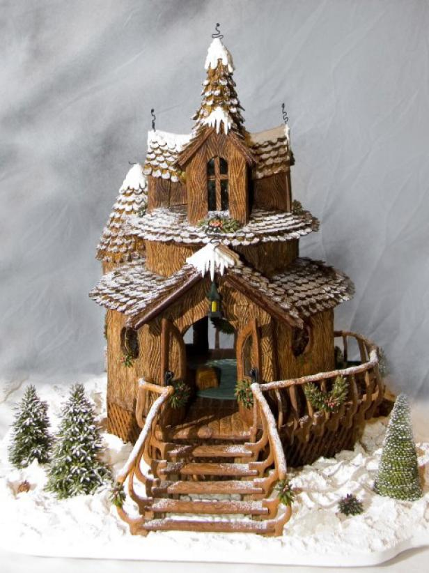 Icy Gingerbread Chalet Decorates Grove Park Inn