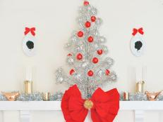 Mantel With Silver Christmas Tree