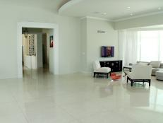 Bare White Living Room