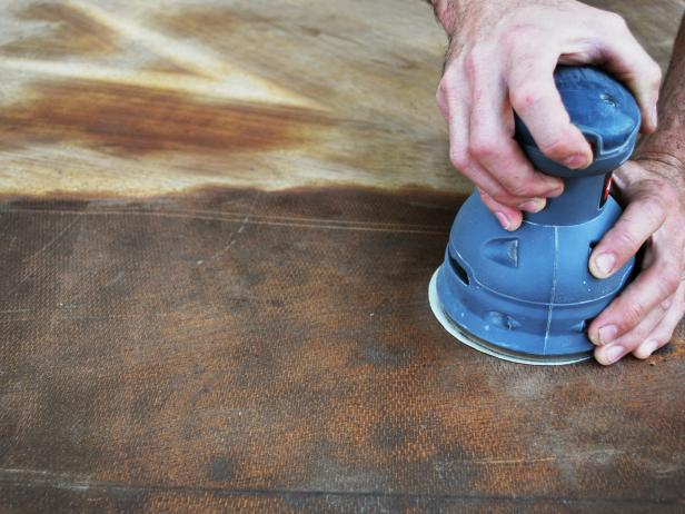 Sanding Wood With Orbital Sander