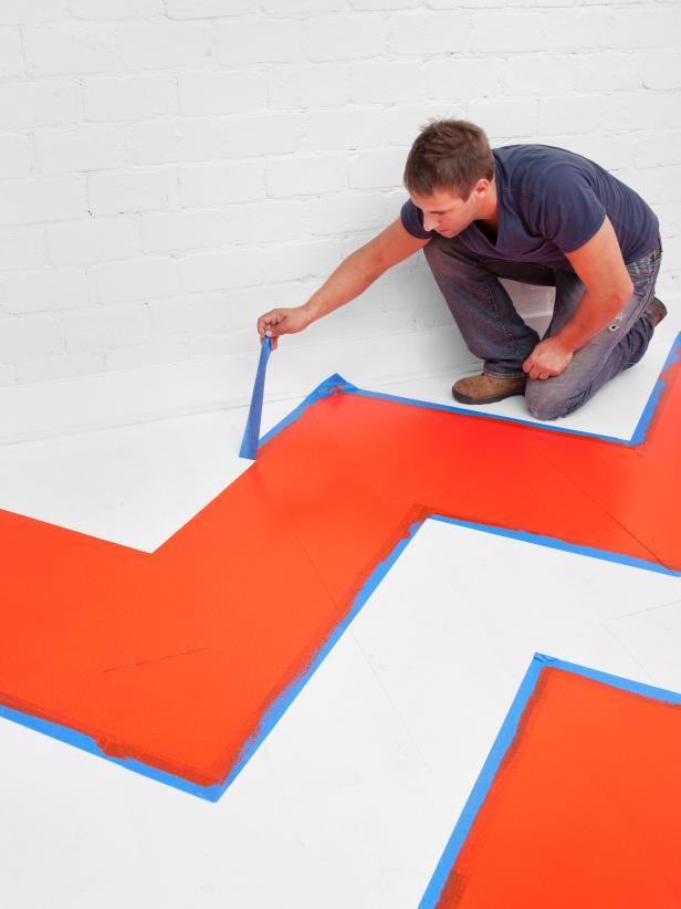 Chevron Patterned Floor
