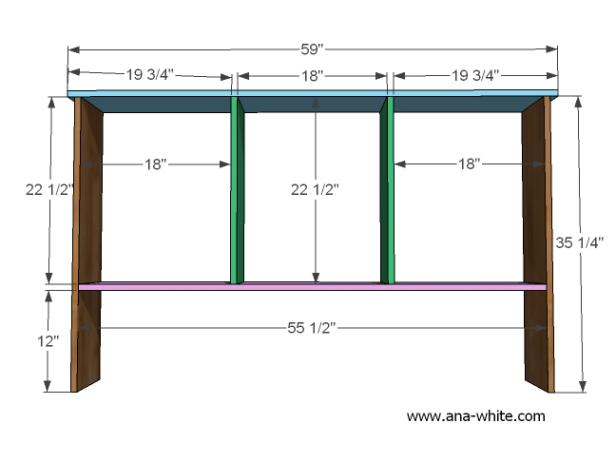 Blueprint for Rustic Storage Hutch