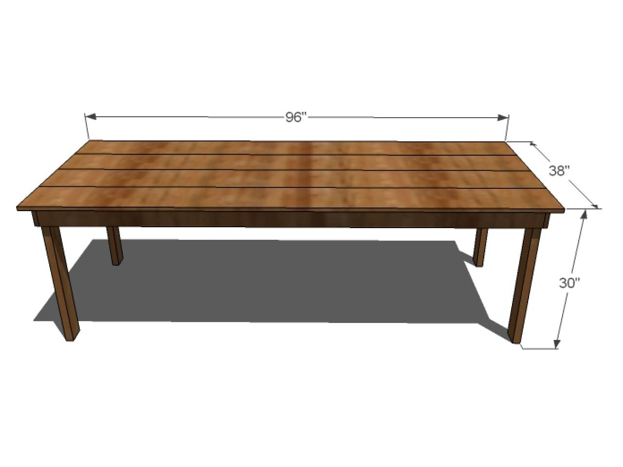 cut list - Diy Dining Room Table Plans
