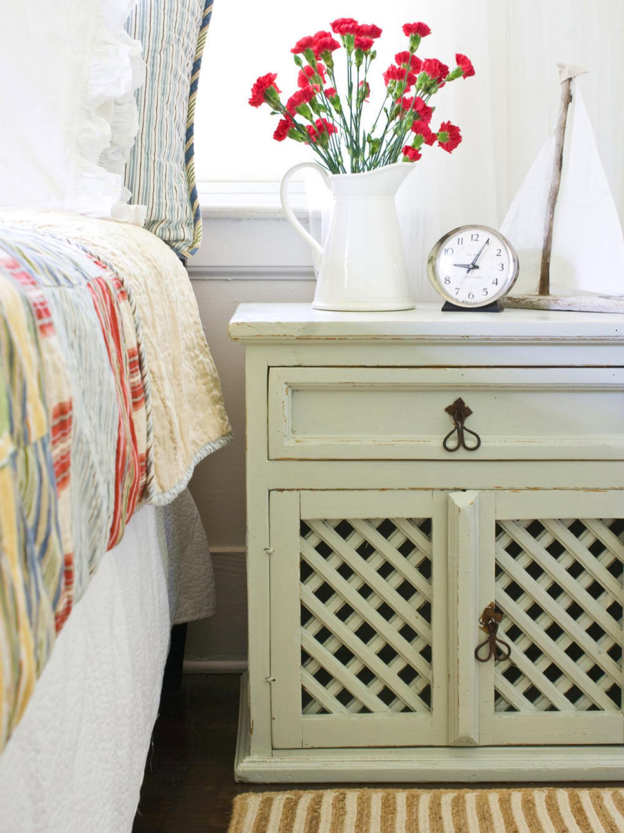 Coastal Style Cabinet. How to Distress Furniture   HGTV