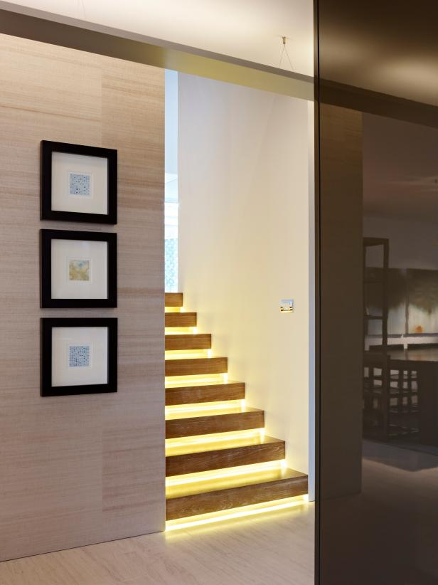 Modern Stairway With Track Lighting