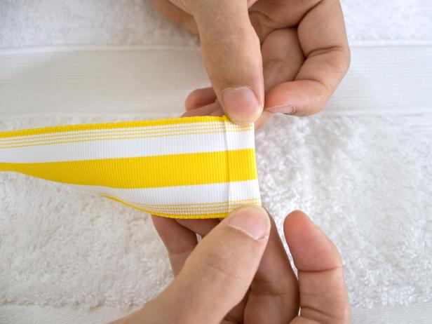 Fold Over End of Ribbon