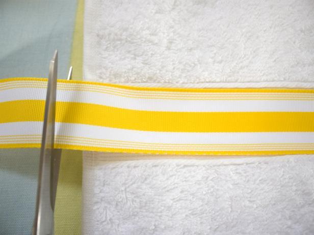 Cutting Ribbon for Embellished Bath Towels