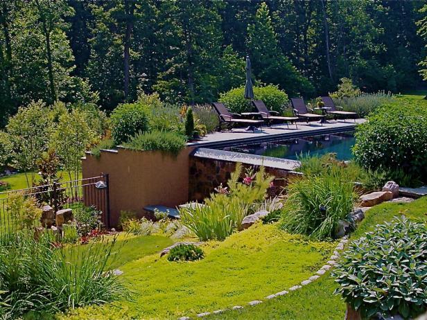 Raised Pool on a Sloping Backyard