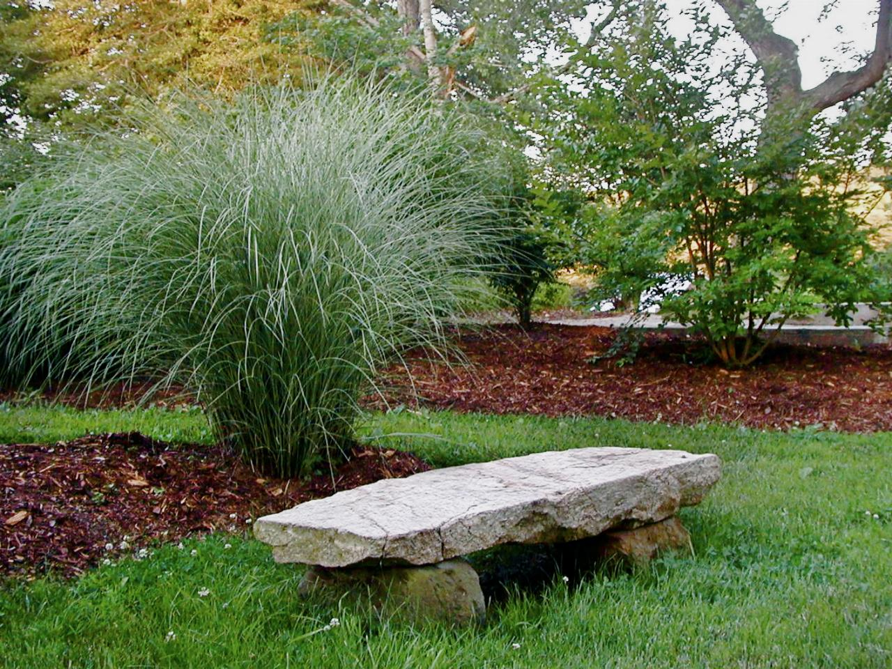 Photo page hgtv Stone garden bench