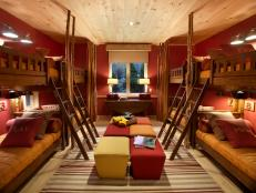 HGTV Dream Home 2011 Colorful Ski Dorm Bunk Beds