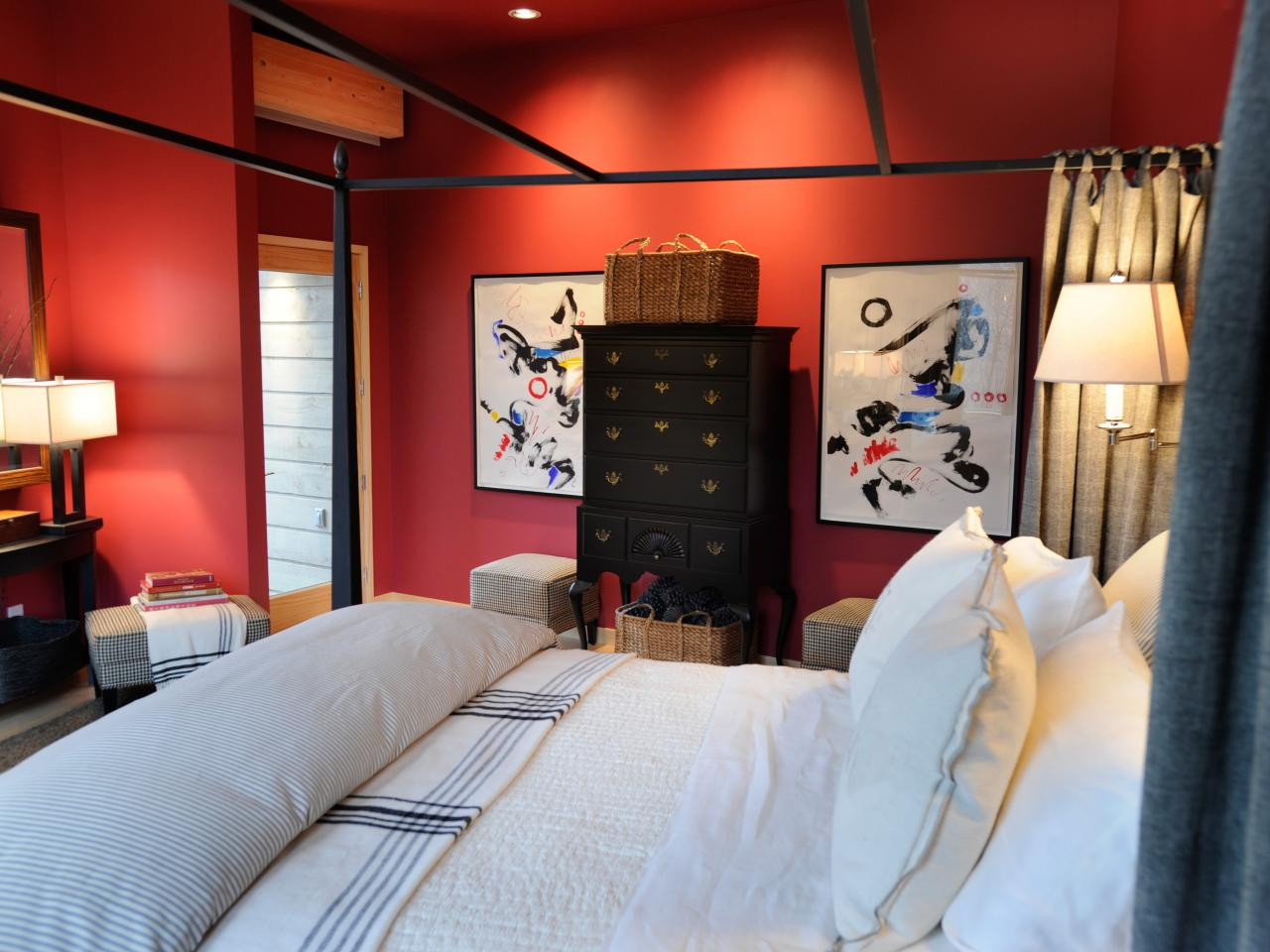 Red Master Bedroom Photos Hgtv