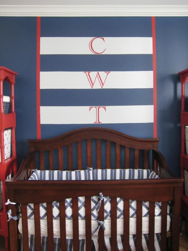 Traditional Blue Boy's Nursery With Eclectic Touches