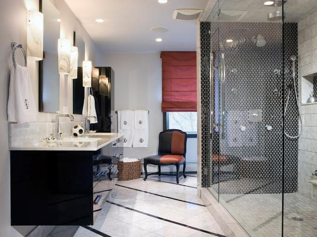 Modern Bathroom with Glass Shower and Floating Vanity