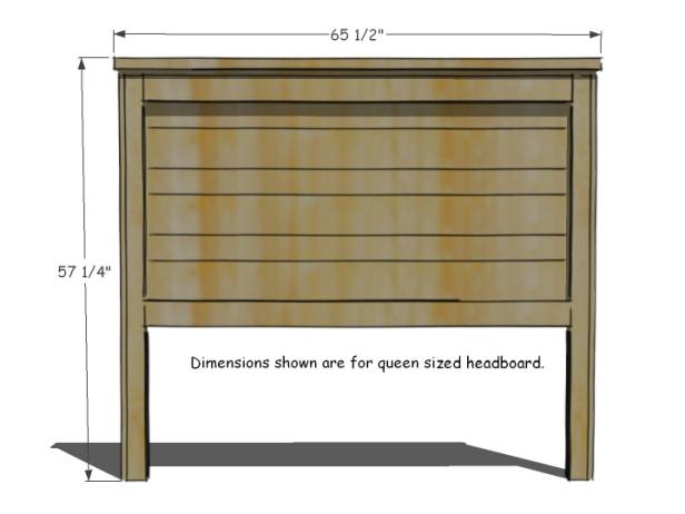 Headboard Dimensions and Cut List
