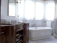 Sophisticated Double Vanity in Traditional Bathroom