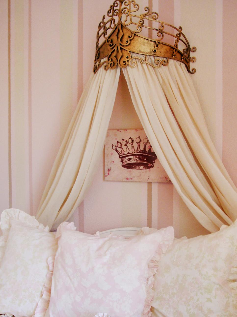 Bed Crown Design Ideas HGTV - Canopy idea bed crown