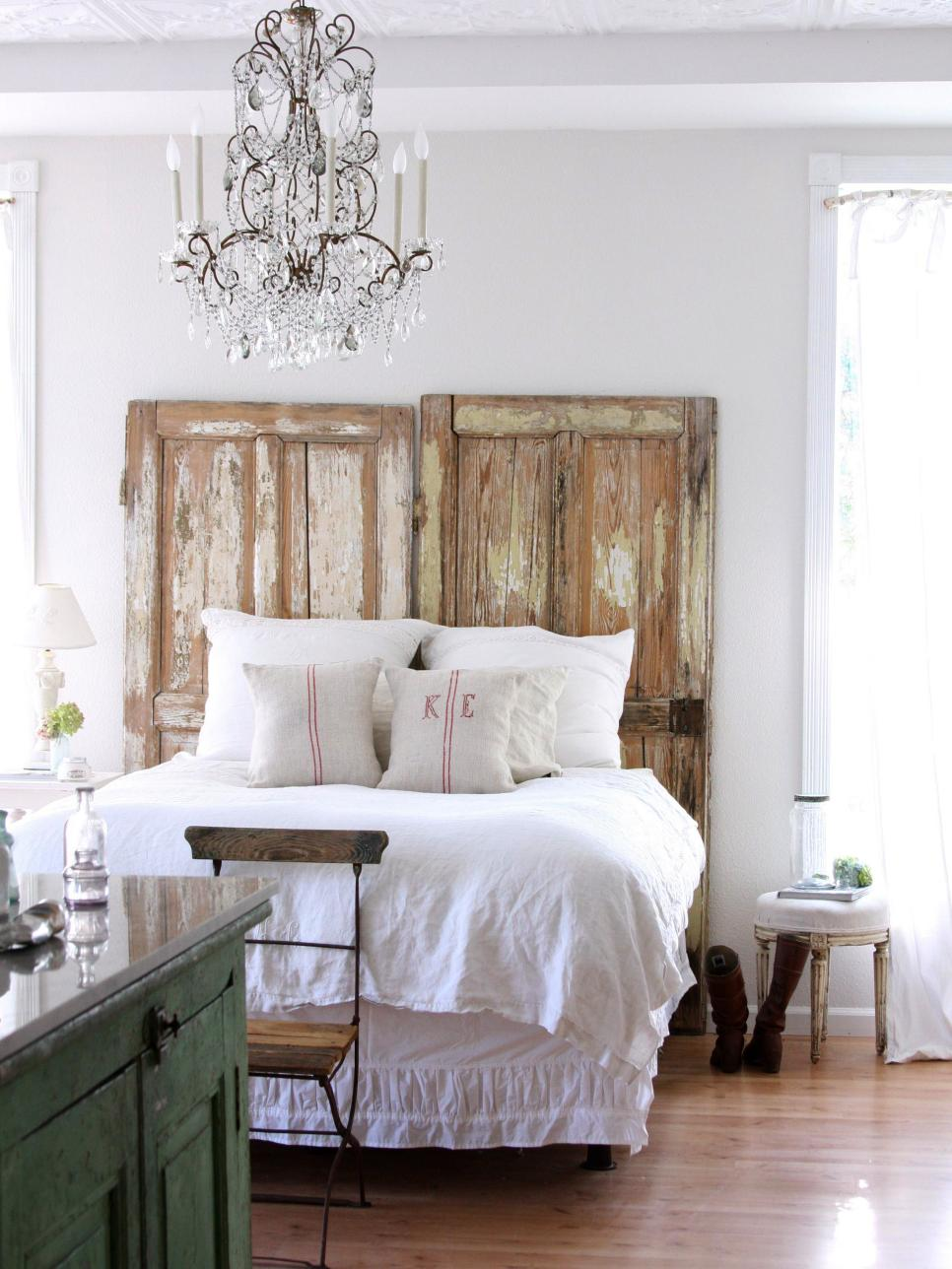 Green Ladder Headboard