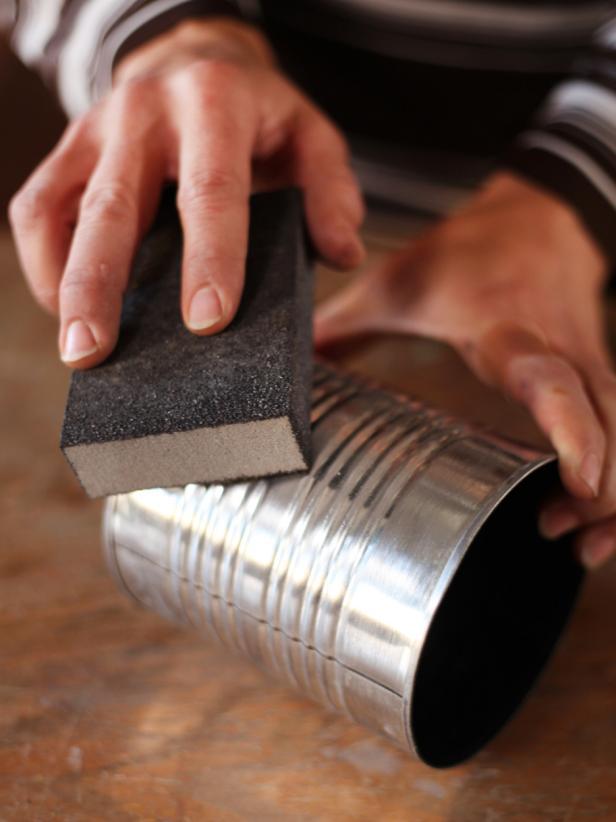 Sanding Tin Can