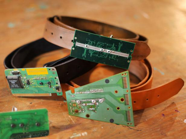 Computer Circuit Board Belt Buckle