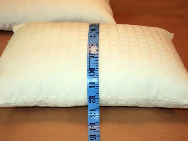 Measure Pillow Insert for DIY Easy Sew Pillow Case