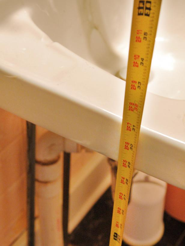 Measure Height and Width of Sink