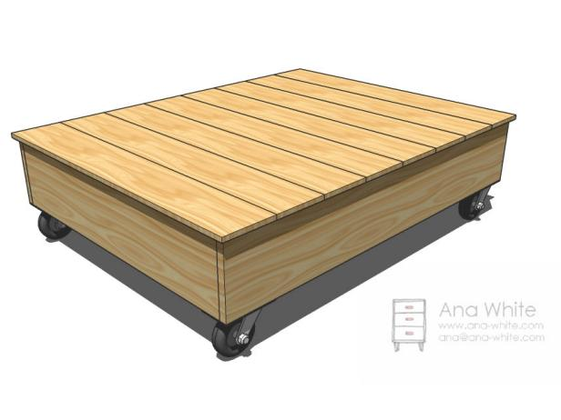 The overall dimensions of this factory cart coffee table are 59 inches wide, 36 inches high and 8 inches deep.