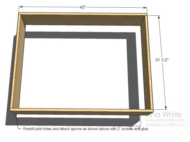 Build the Coffee Table Frame