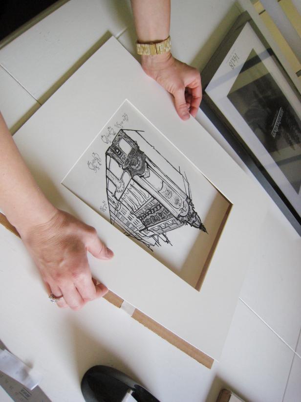 Attach Mat to Artwork