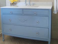 Country Blue Bathroom Vanity