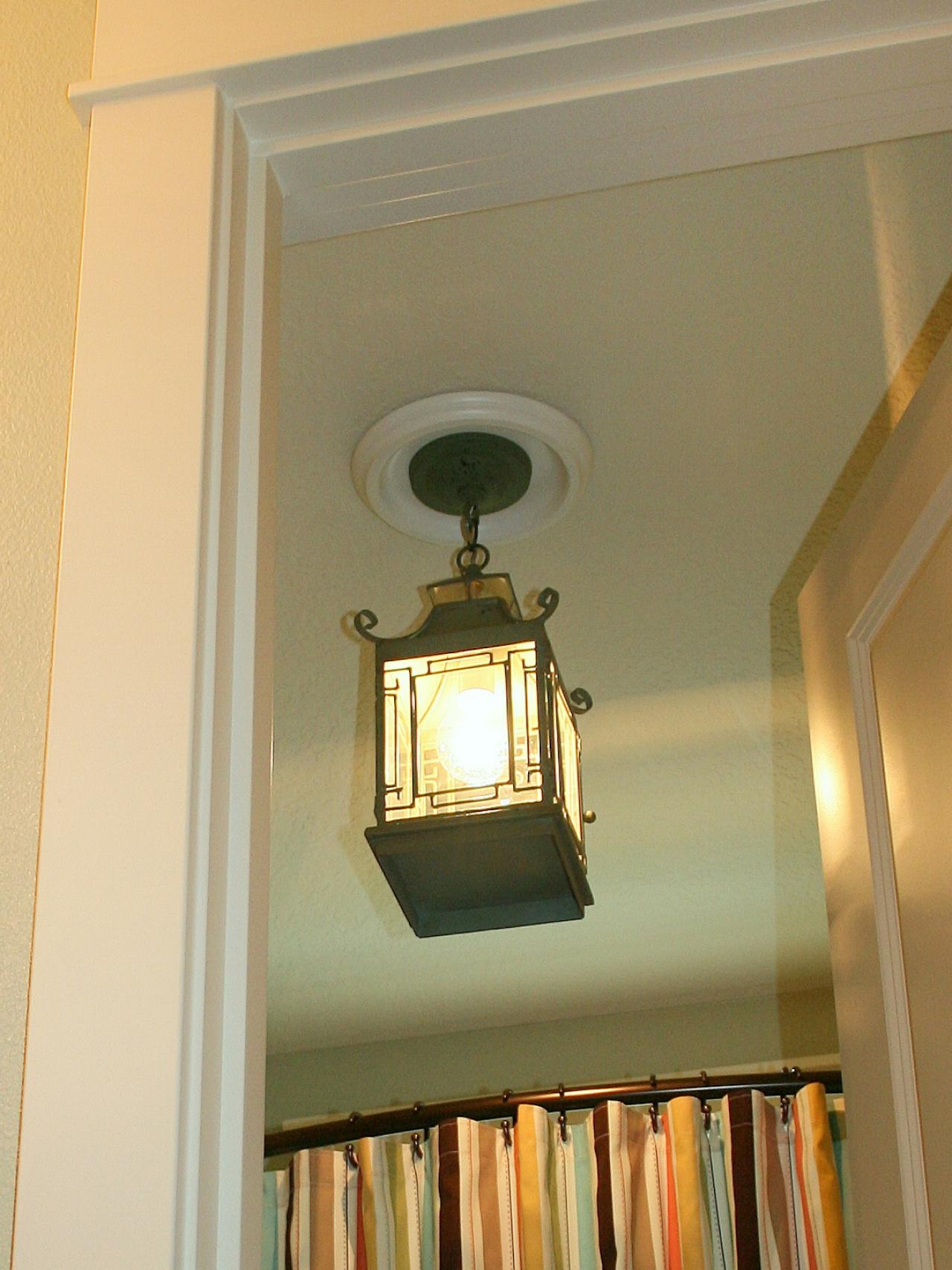 Hanging bathroom lights - Replace Recessed Light With A Pendant Fixture