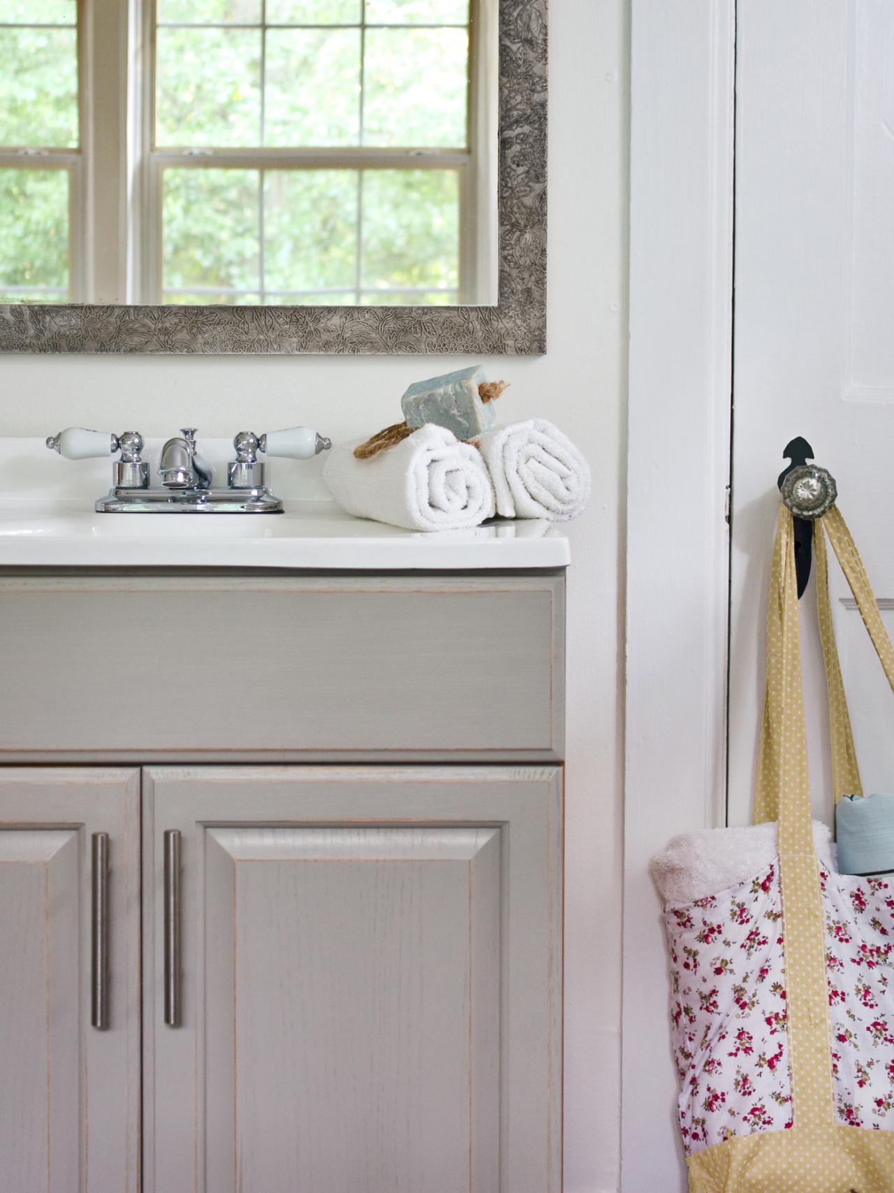 Updating A Bathroom Vanity HGTV - What paint to use on bathroom cabinets for bathroom decor ideas