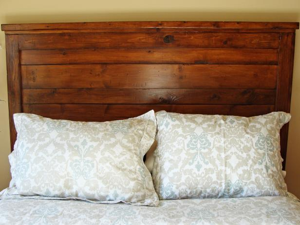 Stained Headboard Option