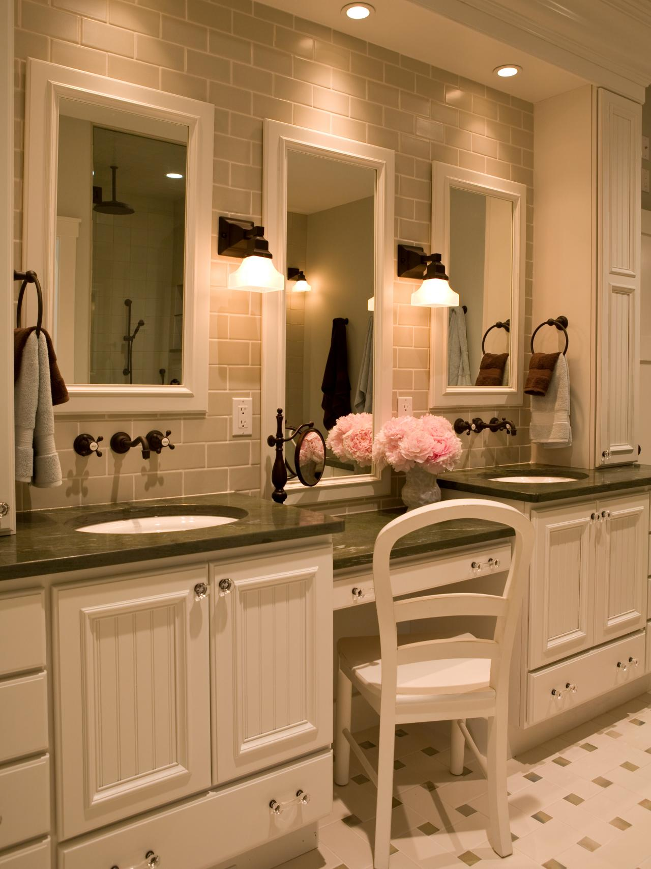 Makeup vanity dressing table bathroom ideas designs for Bathroom dressing ideas