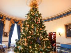 White House Blue Room Christmas Tree
